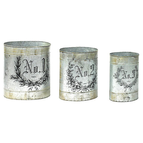 Asst. of 3 French Numbered Canisters
