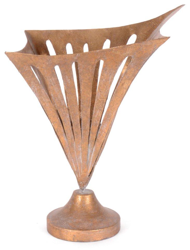 """12"""" Barnett Vase, Gold"""