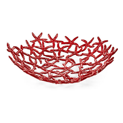 Starfish Bowl, Red