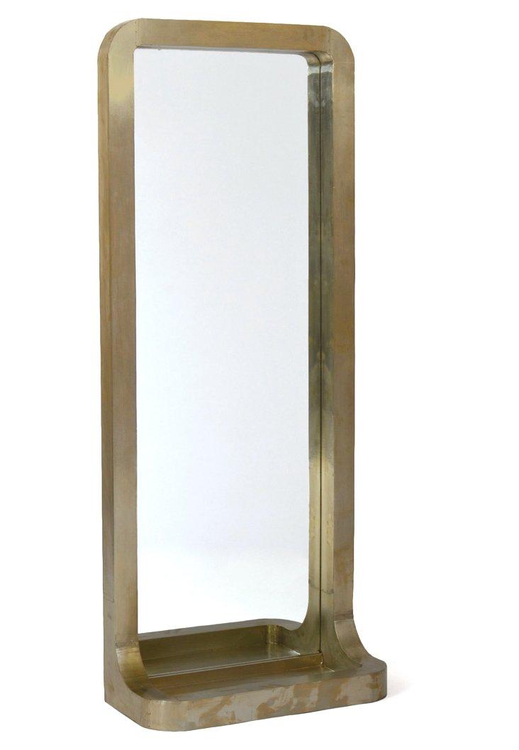 Broadway Oversize Mirror, Brass