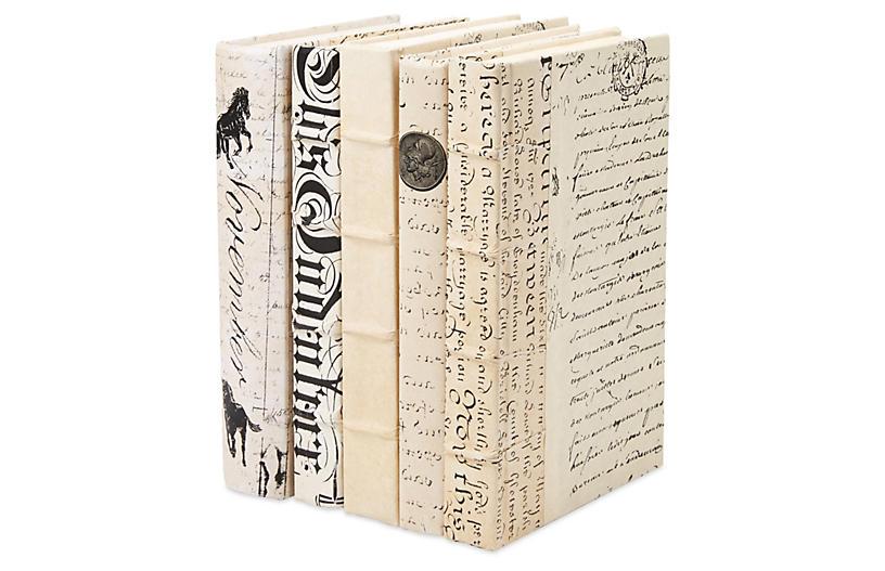 S/5 Designer Books, White
