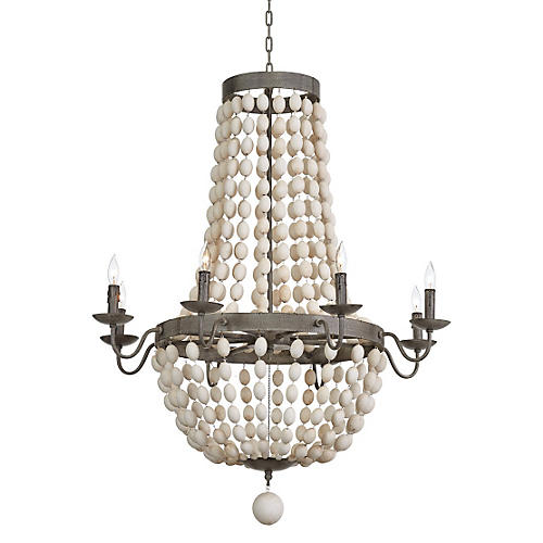 Gable 8-Light Chandelier, Iron