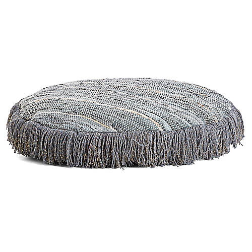 Carolina Floor Pouf, Gray
