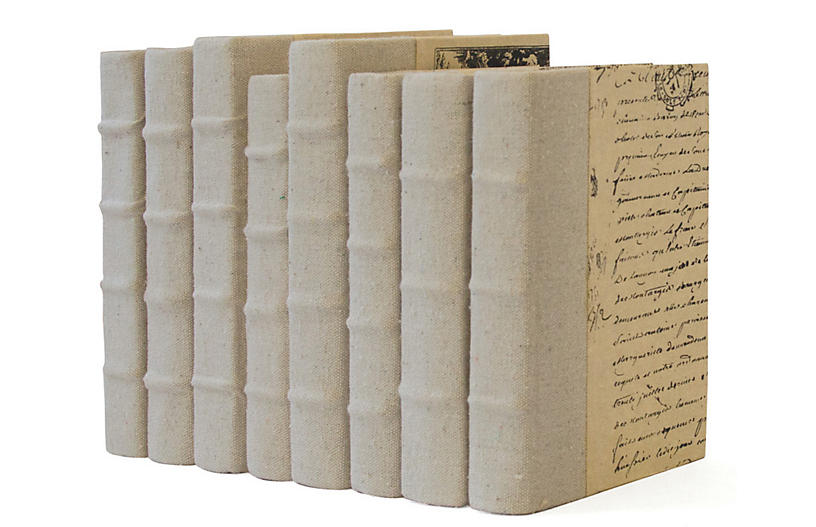 Linear Foot of Recycled Canvas Books