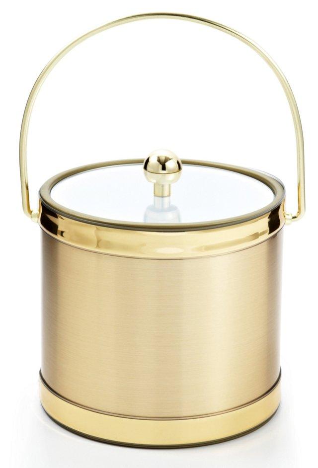 Brushed Ice Bucket, Gold