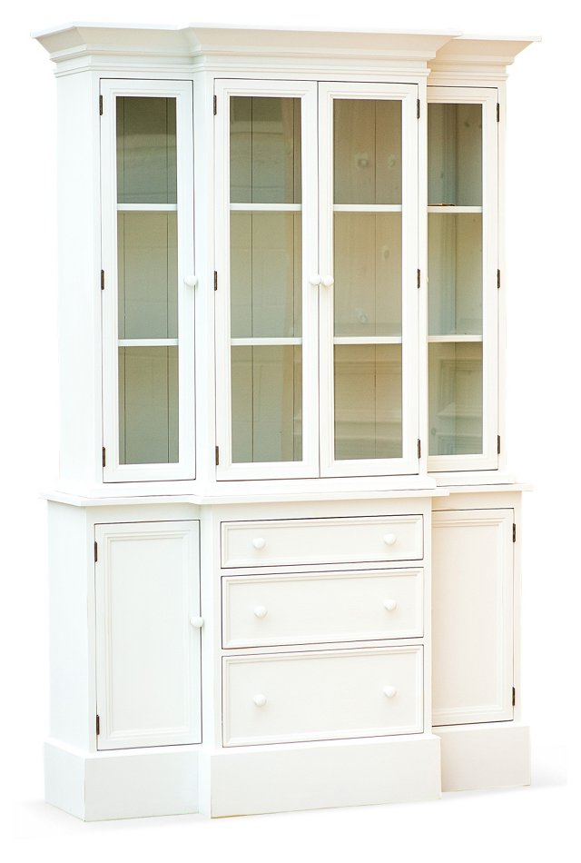 "Beach House 57"" Display Cabinet, White"