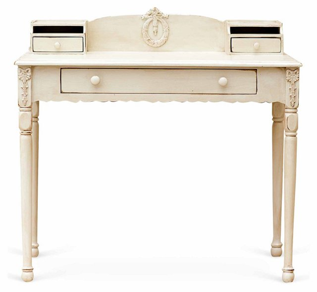 Mary Jane Writing Table, Cream