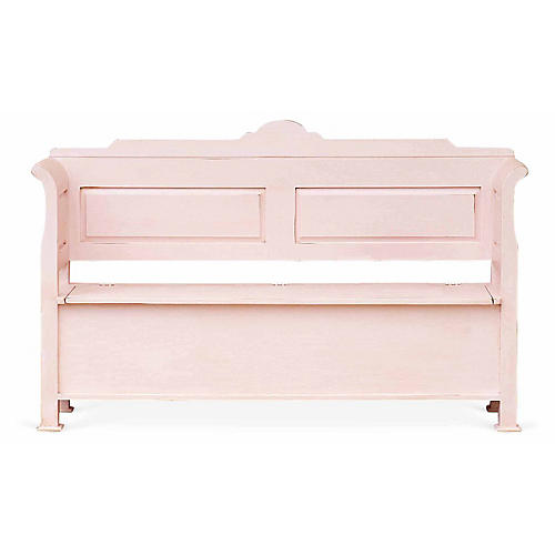 Cordelia Storage Bench, Pink