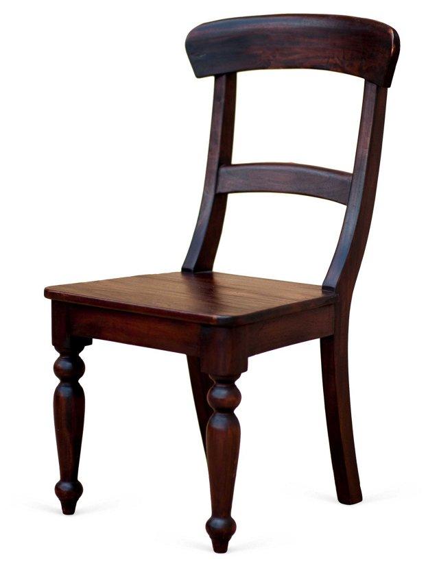 Cathleen Side Chair, Mahogany