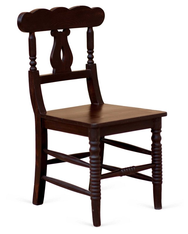 Ivy Cottage Side Chair, Mahogany