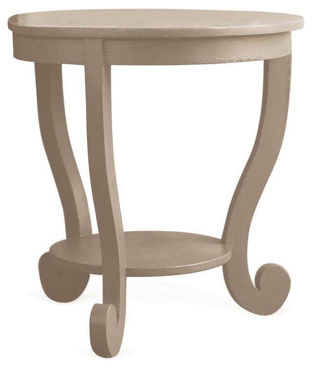 "Annie 22"" Round Occasional Table, Beige"
