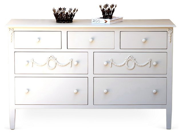 Mary Jane Grand Dresser, White