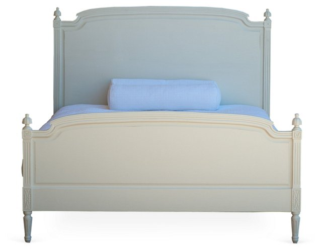 Louis Bed, White, Queen