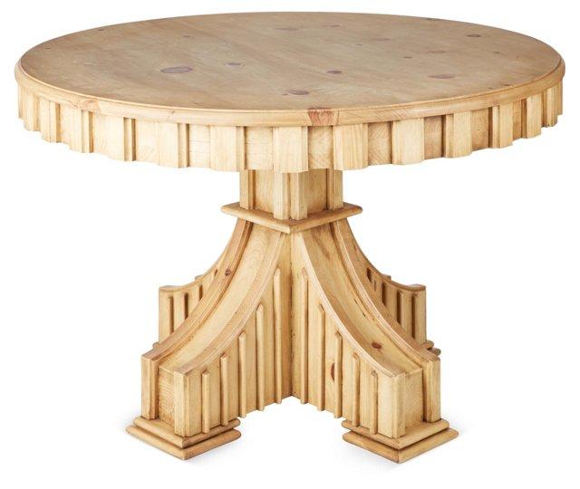 Ralph Pedestal Table, Natural