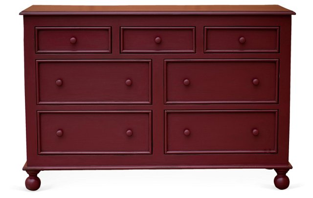 Beside-the-Sea Double Dresser, Red