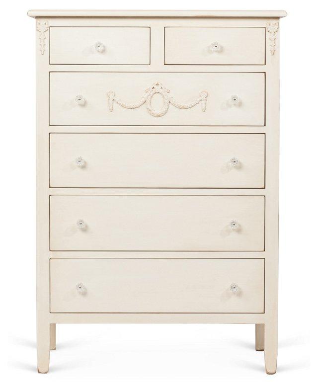 Mary Jane Tall Dresser, Cream