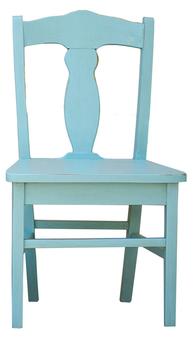 Bea Kid's Chair, Turquoise