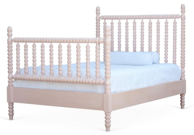 Pink Harriett Spindle Panel Bed, Full