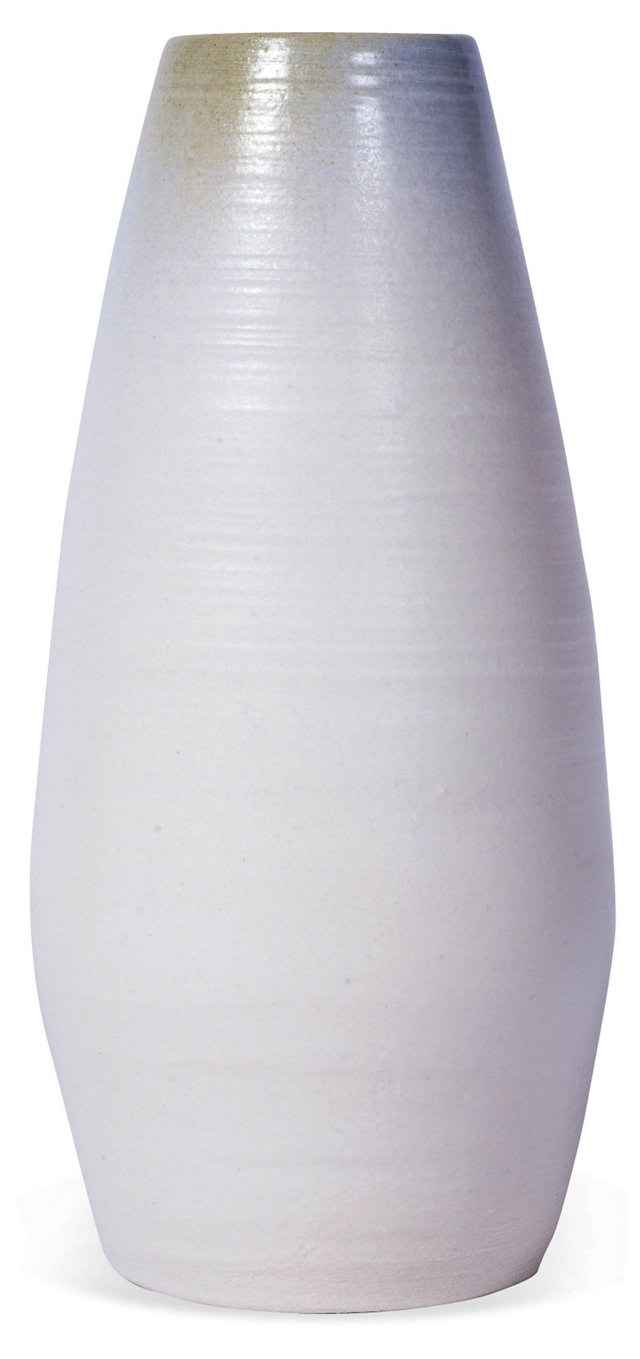 Ocean Park Pottery Small Blue Tip Bottle