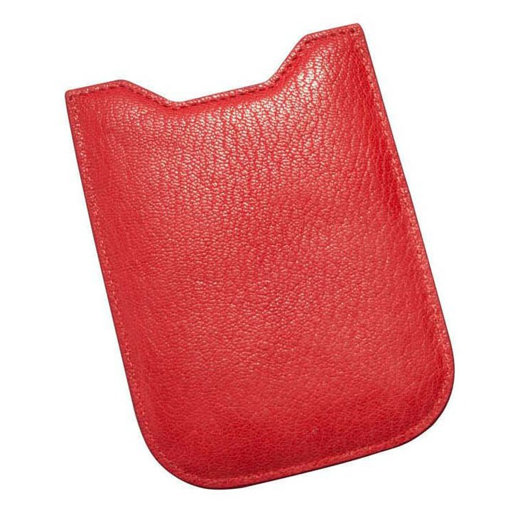Leather iPhone 4/4S Sleeve, Red