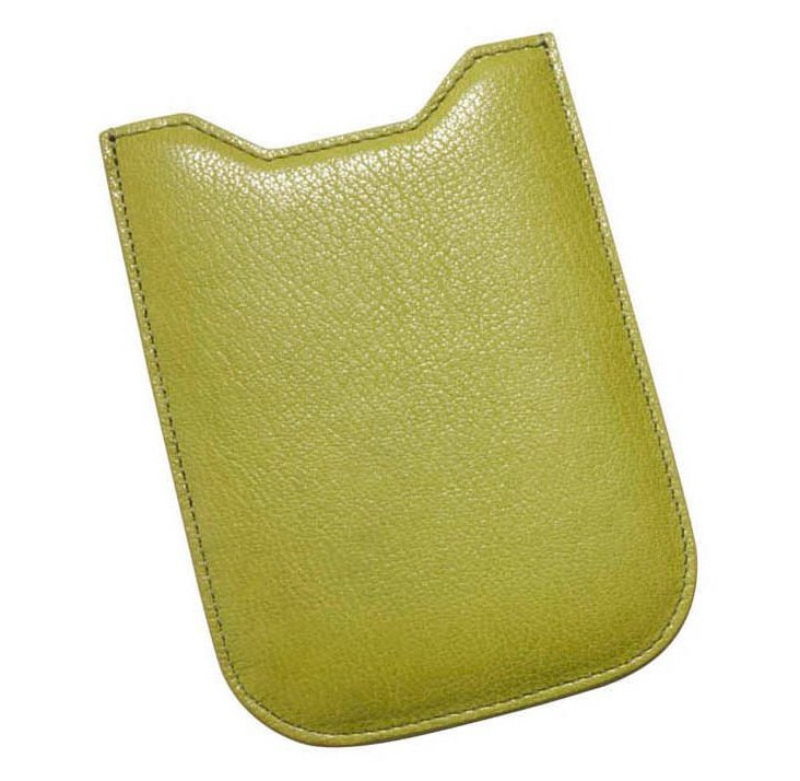 Leather iPhone 4/4S Sleeve, Lime