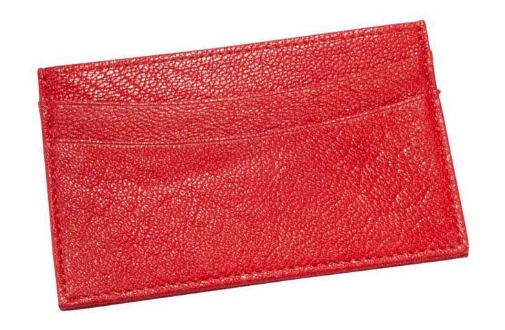Slim Design Card Case, Red