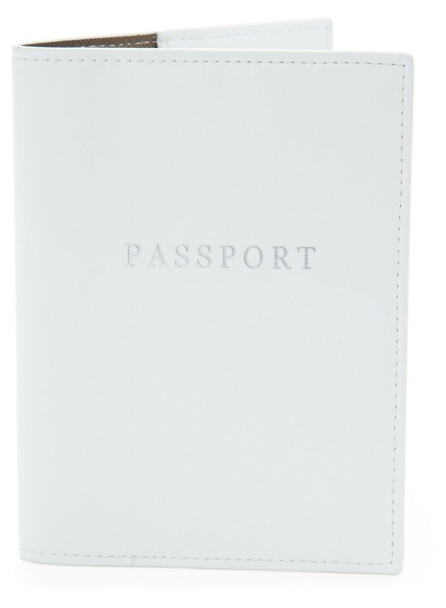 Patent Leather Passport Holder, White