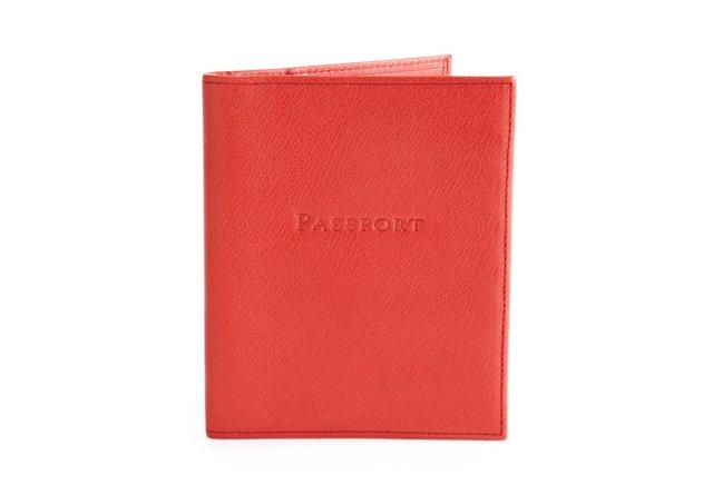 Passport Holder Wallet, Dark Red