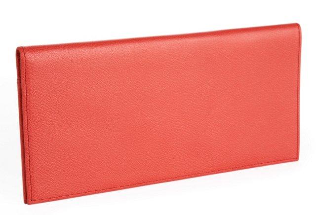 Ticket Holder Wallet, Dark Red