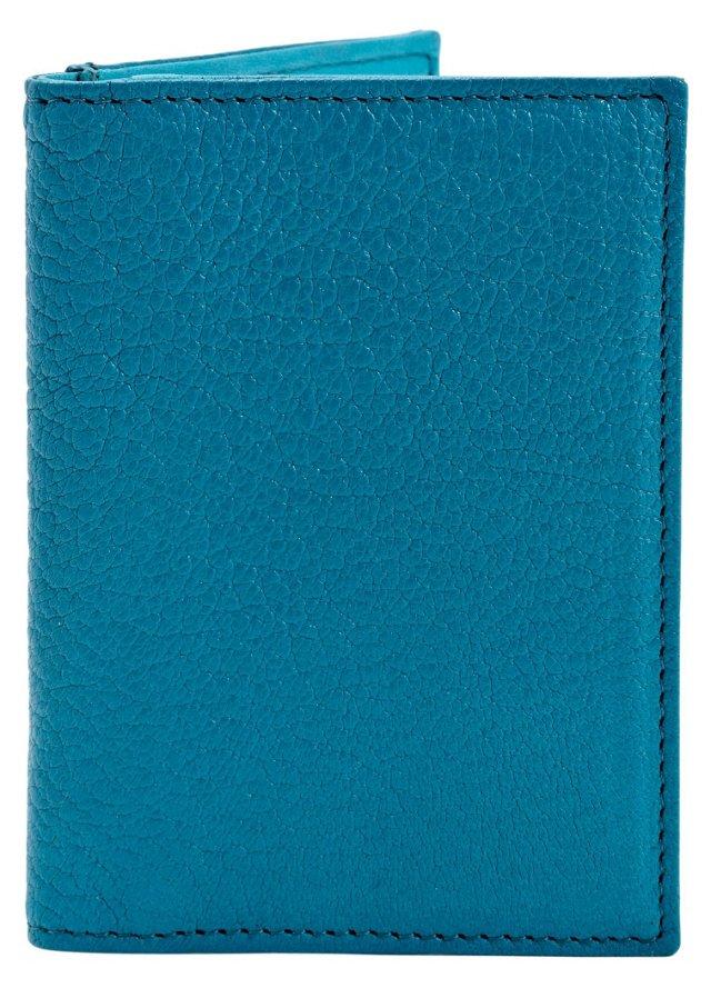 Bi-Fold Wallet w/ Frame, Turquoise
