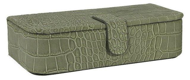 Medium Jewelry Box, Green