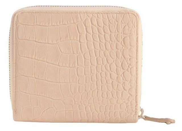 Leather French Zip Wallet, Taupe