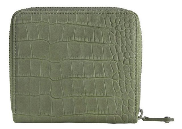 Leather French Zip Wallet, Moss
