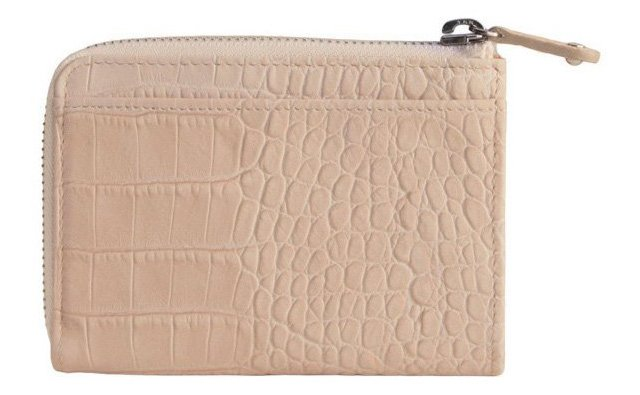 Leather Gusset Wallet, Taupe