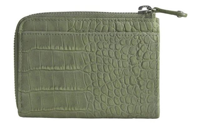 Leather Gusset Wallet, Moss