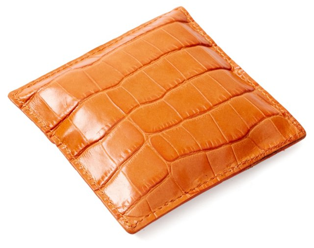 Leather Paperweight, Orange