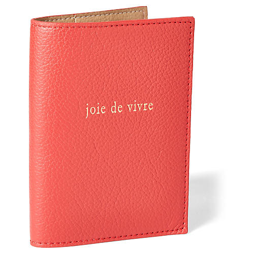 Joie de Vivre Passport Case, Red