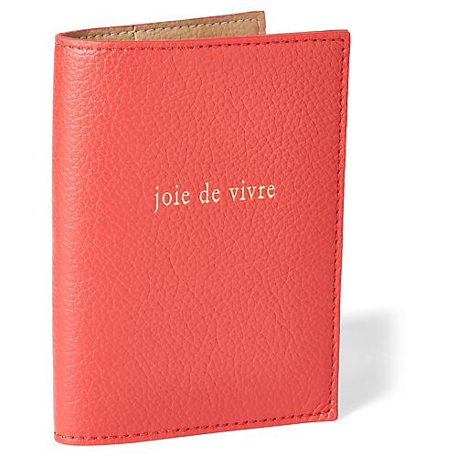 Joie de Vivre Passport Case, Red