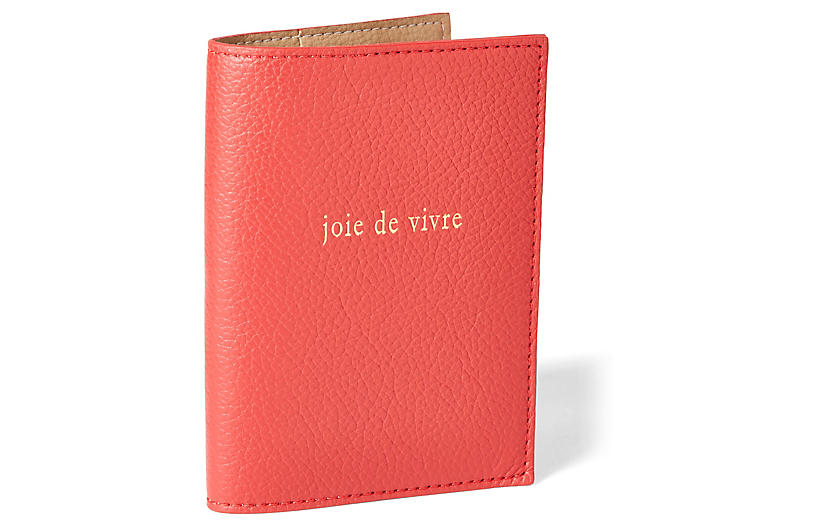 Joie de Vivre Passport Case - Red