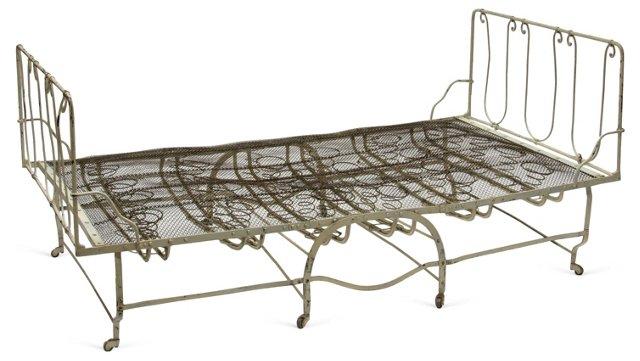 Vintage Iron Folding Bed