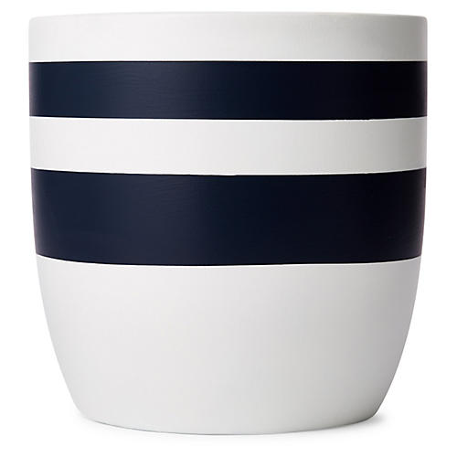 "8"" Yuma Planter, Indigo/White"