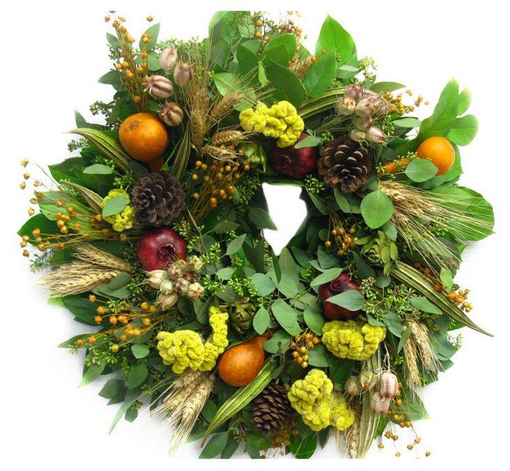 "18"" Harvest Wreath, Dried"