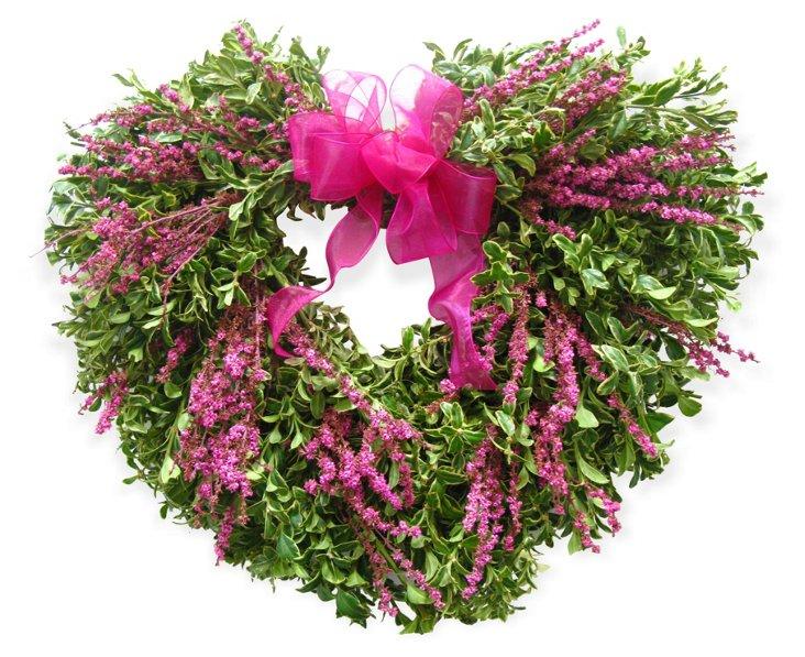 """17"""" Oregonia Heart Wreath"""