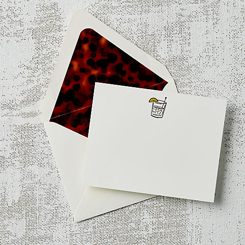 S/10 Tortoiseshell Whiskey HB Note Cards