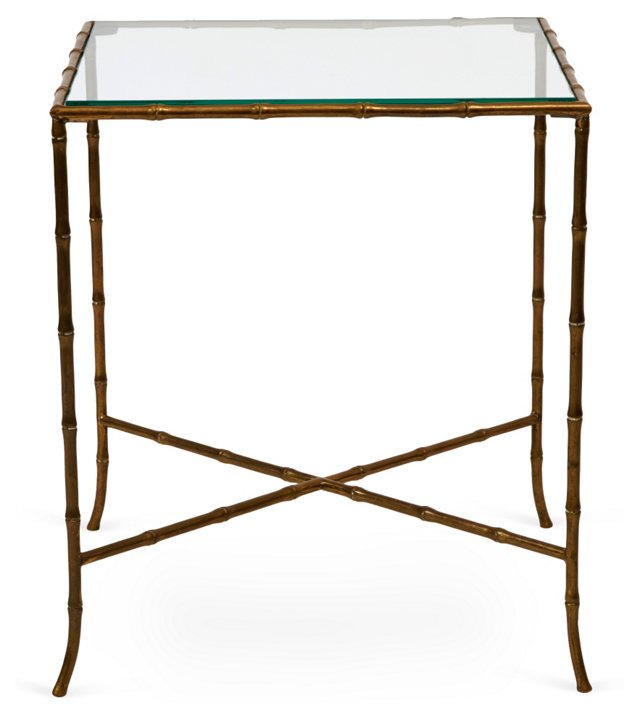 Baguès Brass Bamboo-Style Table I