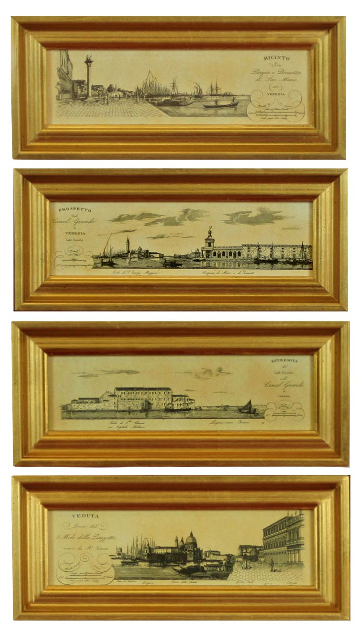 Venice Engraving, Set of 4