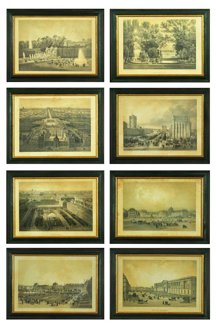 Chic French Country Art, Set of Eight