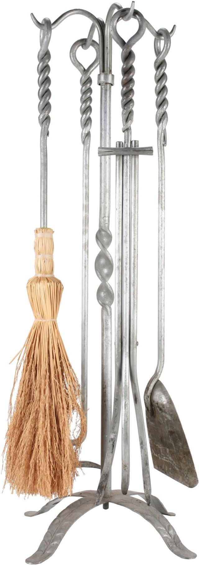 Metal Fireplace Tools, 5 Pcs.