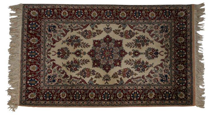 "Vintage Silk Persian Rug, 69"" x 47"""