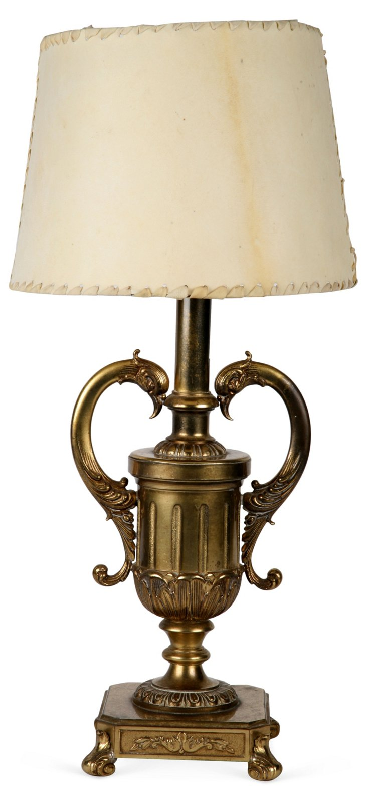Empire French Swan Lamp